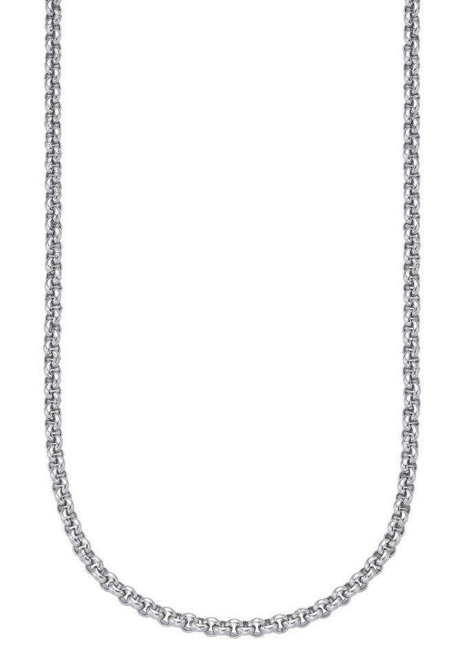 firetti Halsschmuck: Halskette / Collierkettchen in Erbskettengliederung in silberfarben