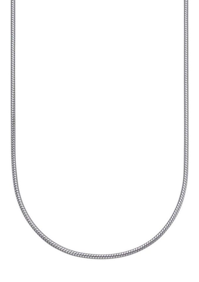firetti Halsschmuck: Halskette / Collierkettchen in Schlangenkettengliederung in silberfarben