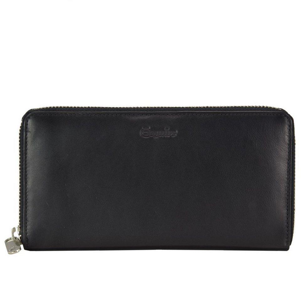 Esquire Silk Geldbörse Leder 19 cm in schwarz