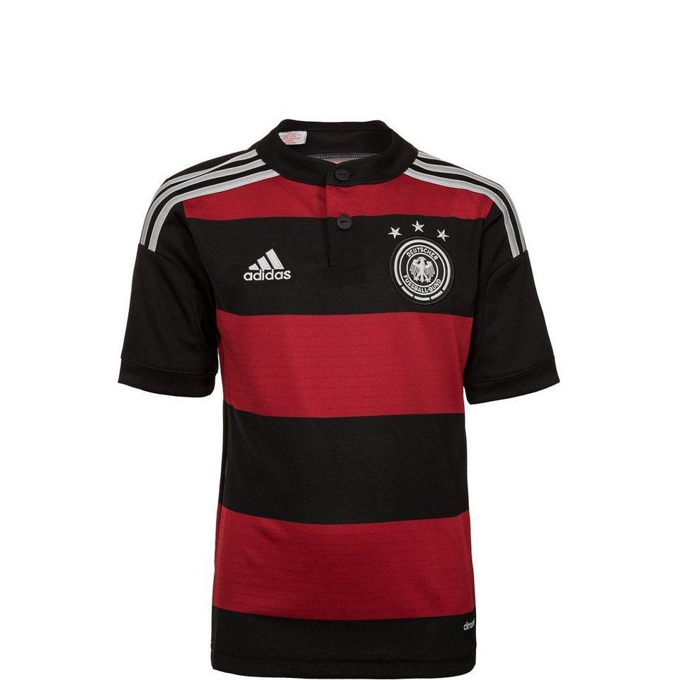 adidas Performance DFB Trikot Away WM 2014 Kinder in schwarz / rot