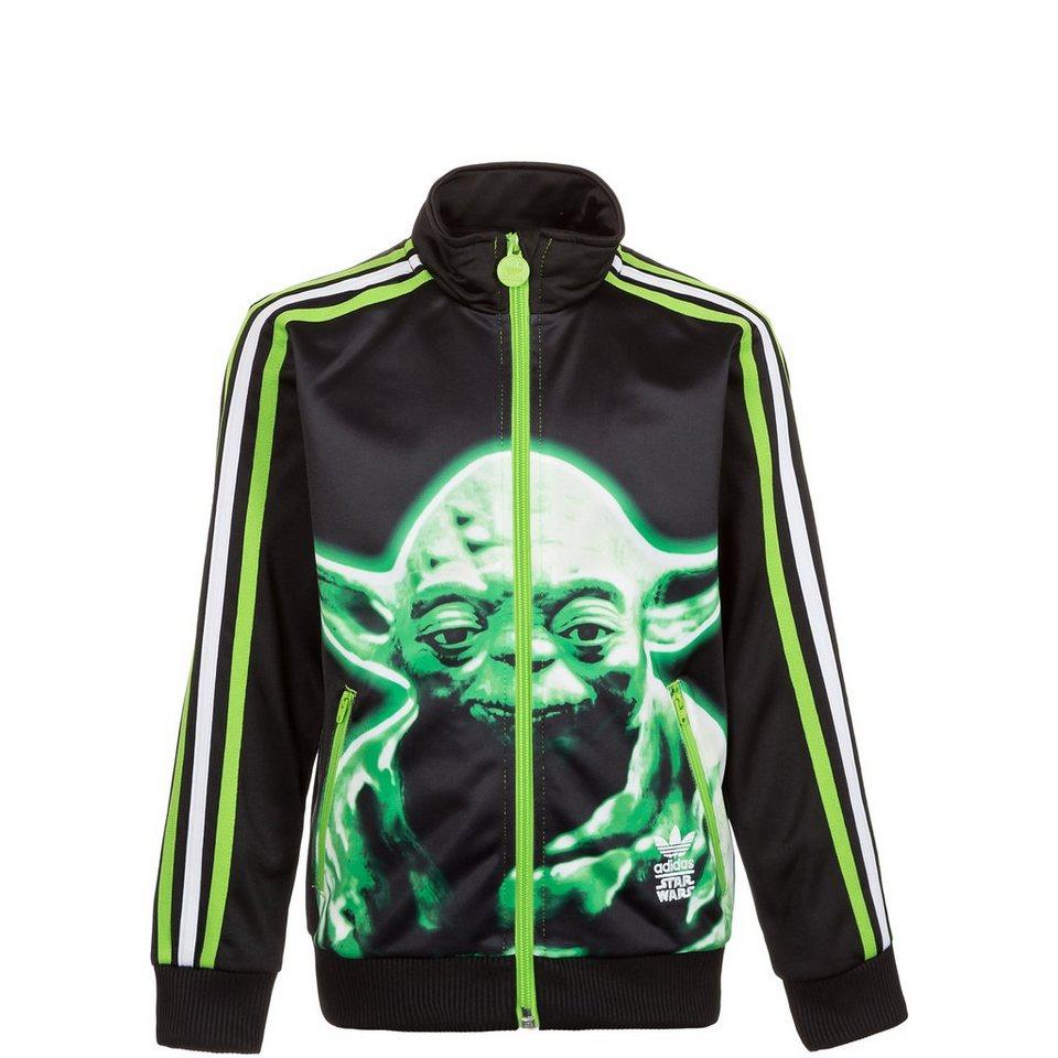 adidas Originals Star Wars Firebird Trainingsjacke Kinder in schwarz / neongrün