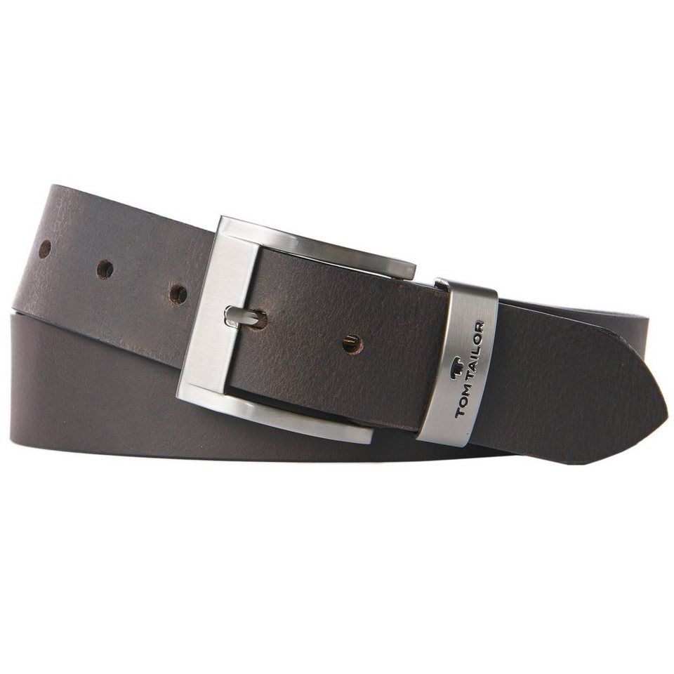 TOM TAILOR Gürtel »classic leather belt« in dk. brown