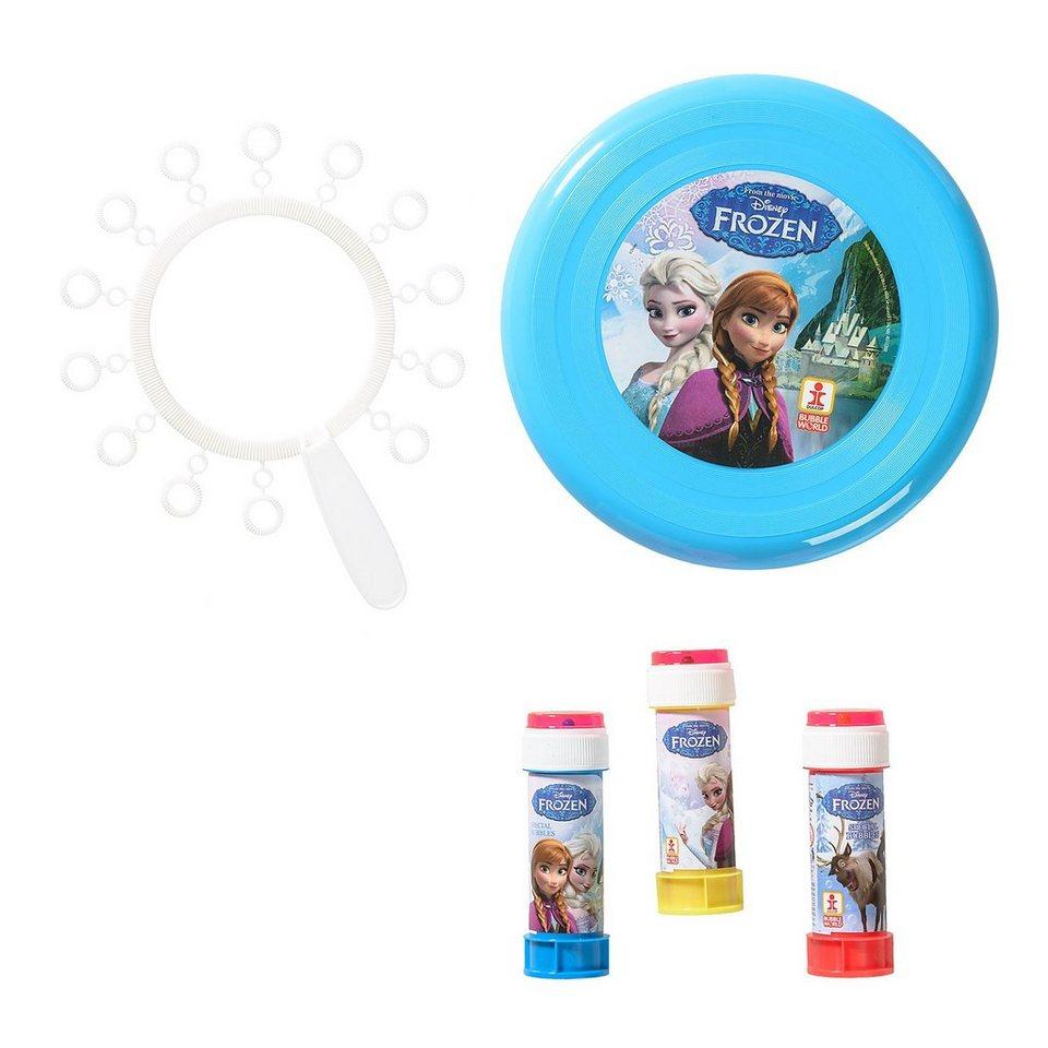 Dulcop Seifenblasen- und Frisbee-Set Die Eiskönigin in blau