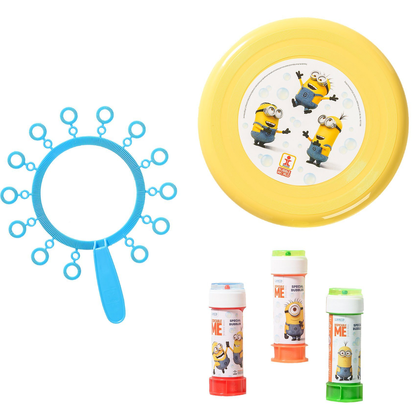 Dulcop Seifenblasen- und Frisbee-Set Minions