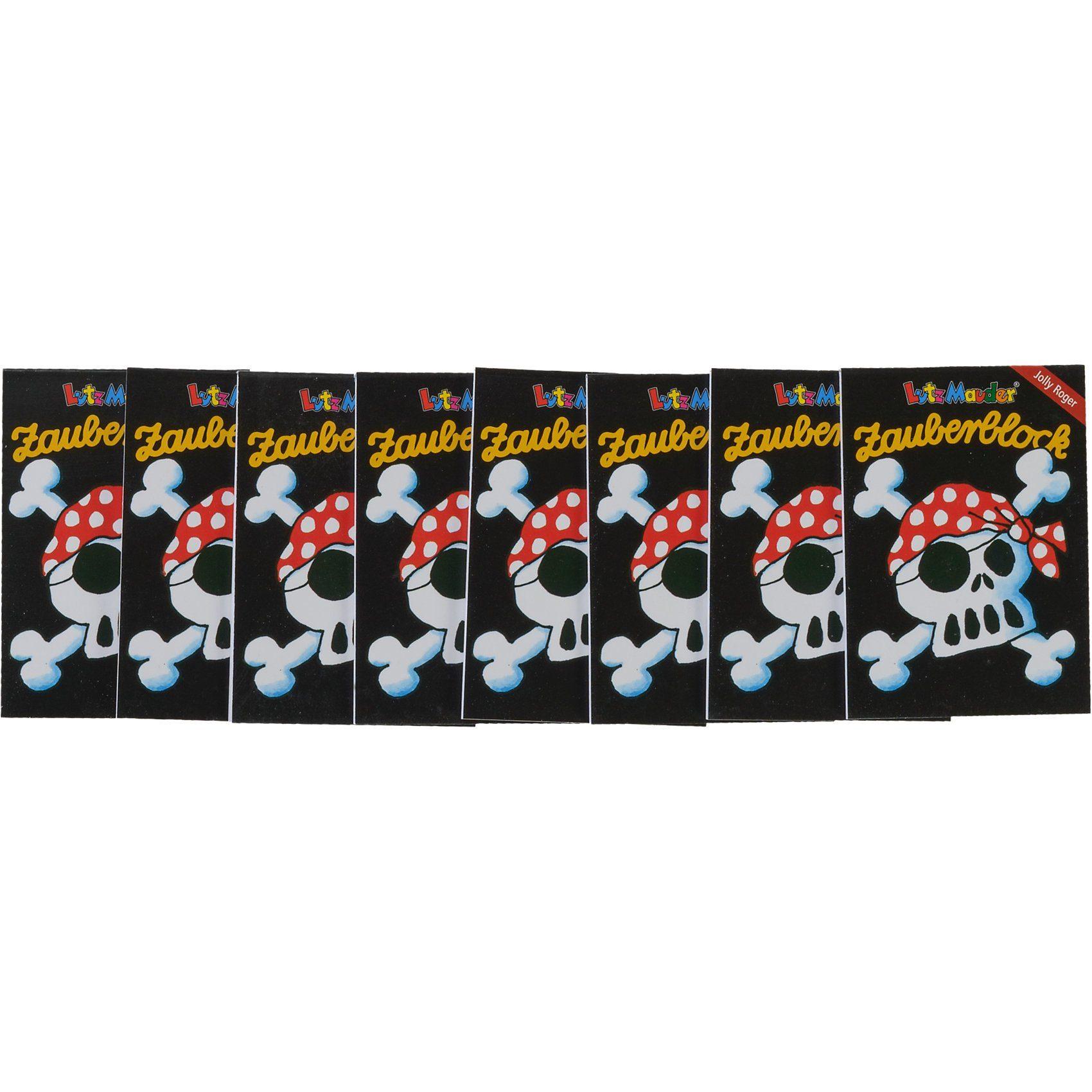 Lutz Mauder Verlag Zauberblock Pirat Jolly Roger A8, 8-tlg.