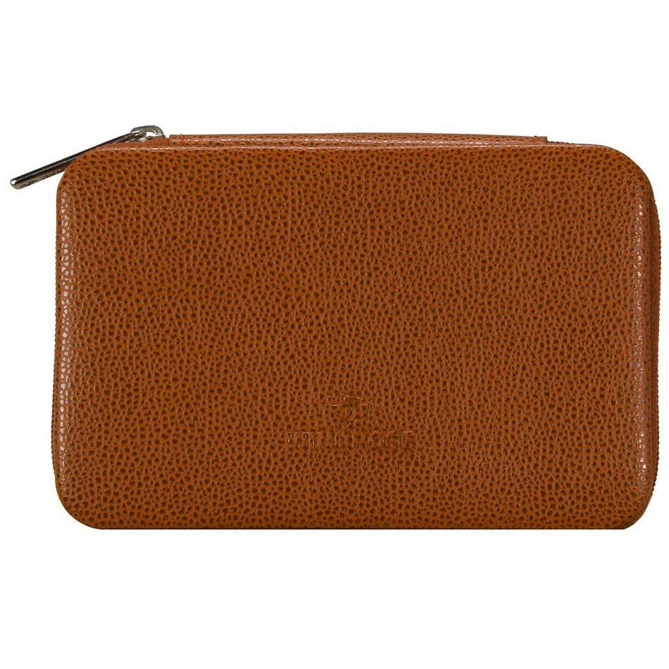 WINDROSE Beluga Schmuckbox 14,5 cm Leder in ziegel