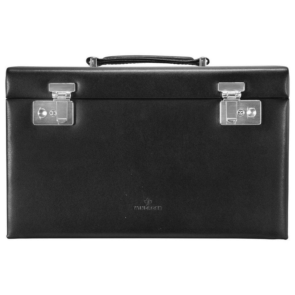 WINDROSE Ambiance Schmuckkoffer 31,5 cm Leder in schwarz
