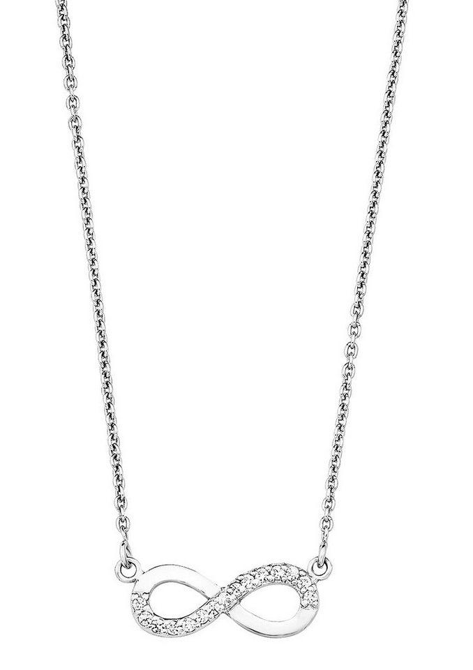 Amor Kette mit Anhänger »Infinity / Unendlichkeitsschleife, E90/1 510066« mit Zirkonia in Silber 925