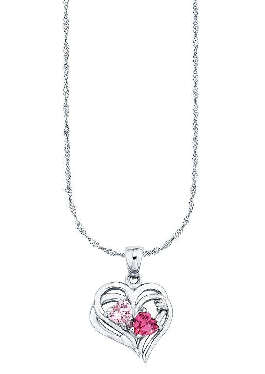 Amor Halskette, »mit Herzanhänger, 492324« in Silber 925/rosa