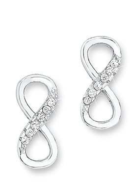Amor Paar Ohrstecker, »Infinity/Unendlichkeit, 509961« in Silber 925