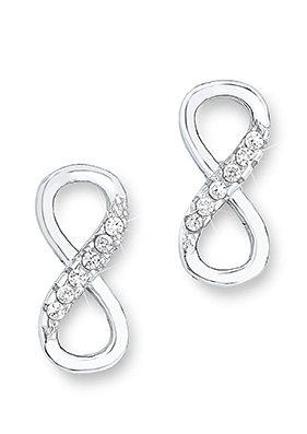 Amor Paar Ohrstecker »Infinity / Unendlichkeitsschleife, E90/6 509961« mit Zirkonia in Silber 925