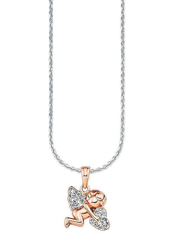 Amor Kette mit Anhänger »9964666, Schutzengel mit Herz« mit Zirkonia | Schmuck > Halsketten > Herzketten | Goldfarben | Amor