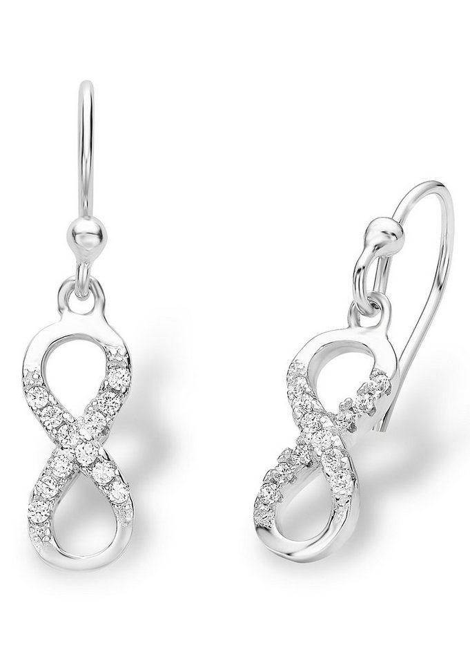 Amor Paar Ohrhaken, »Unendlichkeit, 527521« in Silber 925