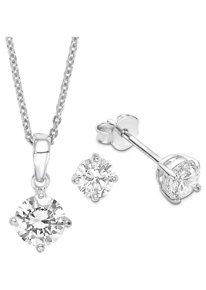 Amor Schmuckset: Halskette und Ohrstecker »496841« (Set 4tlg.) in Silber 925/weiß