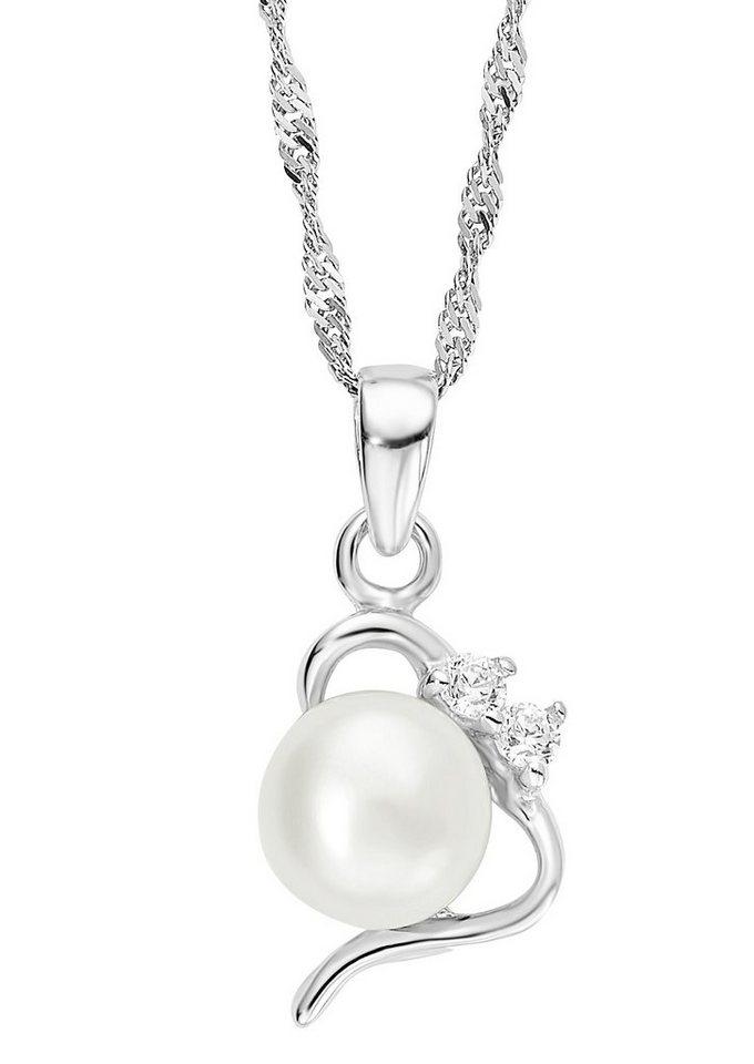 Amor Halskette, »mit Perlenanhänger, 493116« in Silber 925/weiß