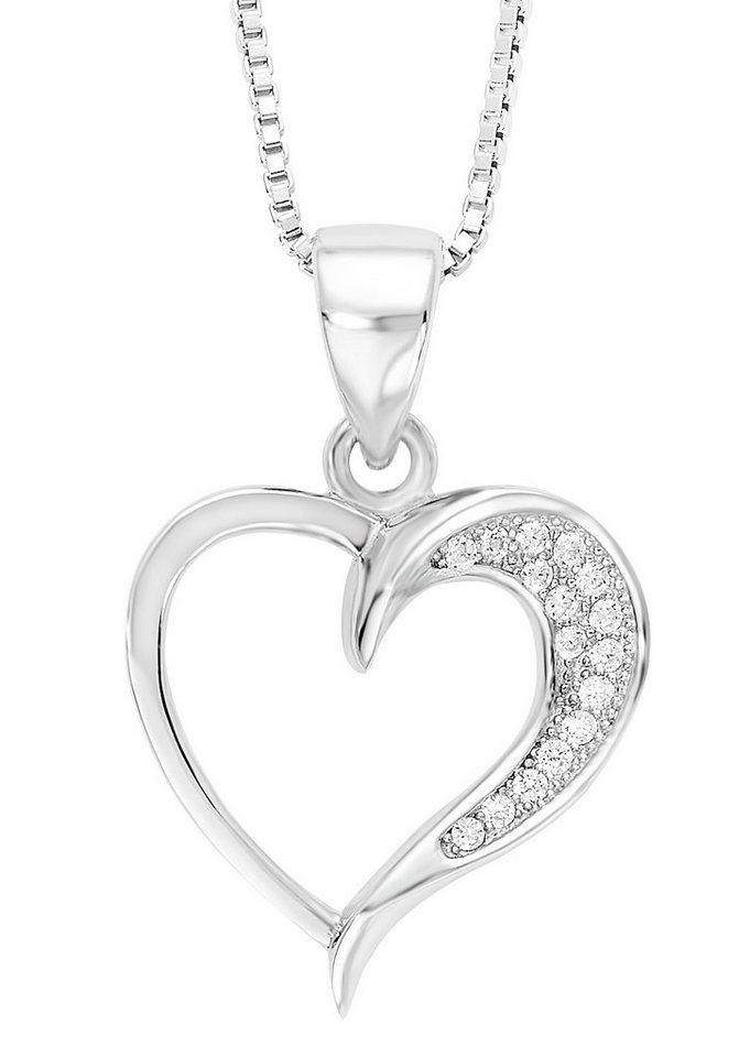 Amor Halskette, »mit Herzanhänger, 497541« in Silber 925