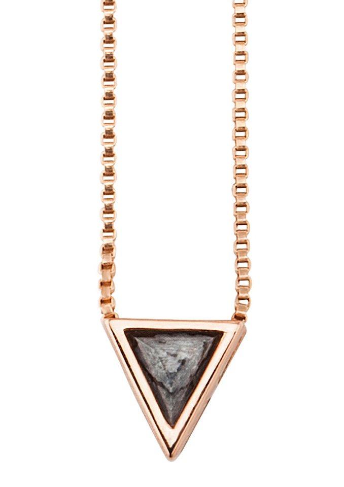 caï Women Halskette mit Kettenanhänger, »Industrial Revolution, C1628N/90/Y9/45« in Silber 925/roségoldfarben vergoldet/schwarz