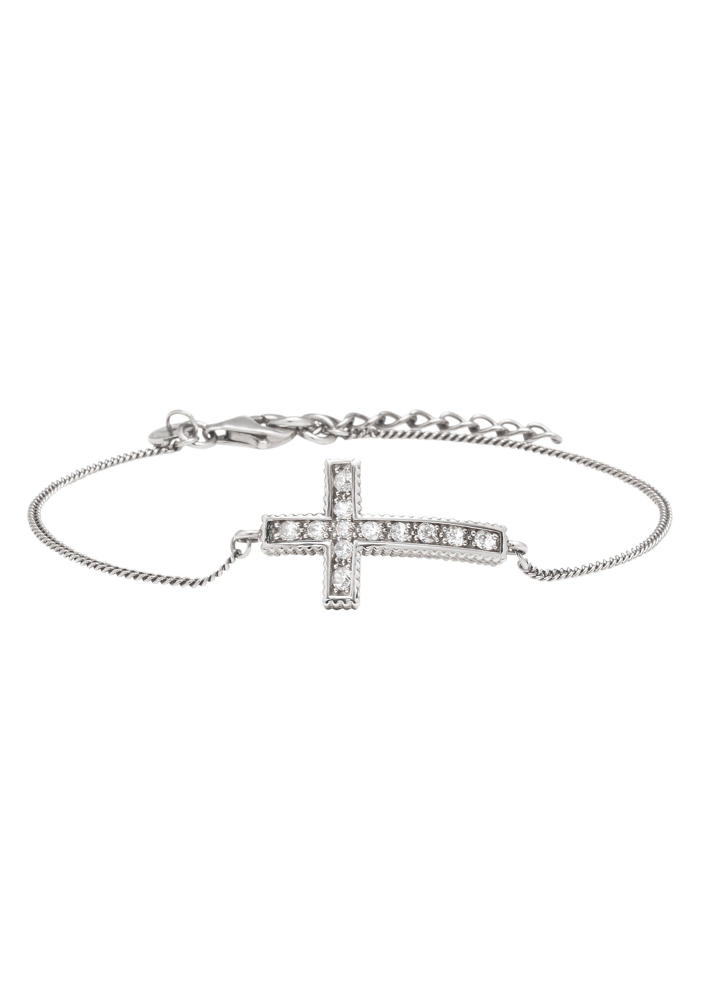 caï Women Silberarmband, »Kreuz, New Grunge, C1575B/90/03/20«
