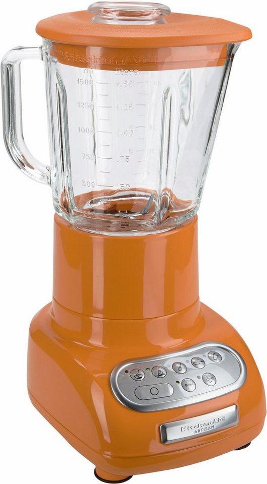 KitchenAid Standmixer Artisan 5KSB5553ETG, 550 Watt, tangerine in tangerine
