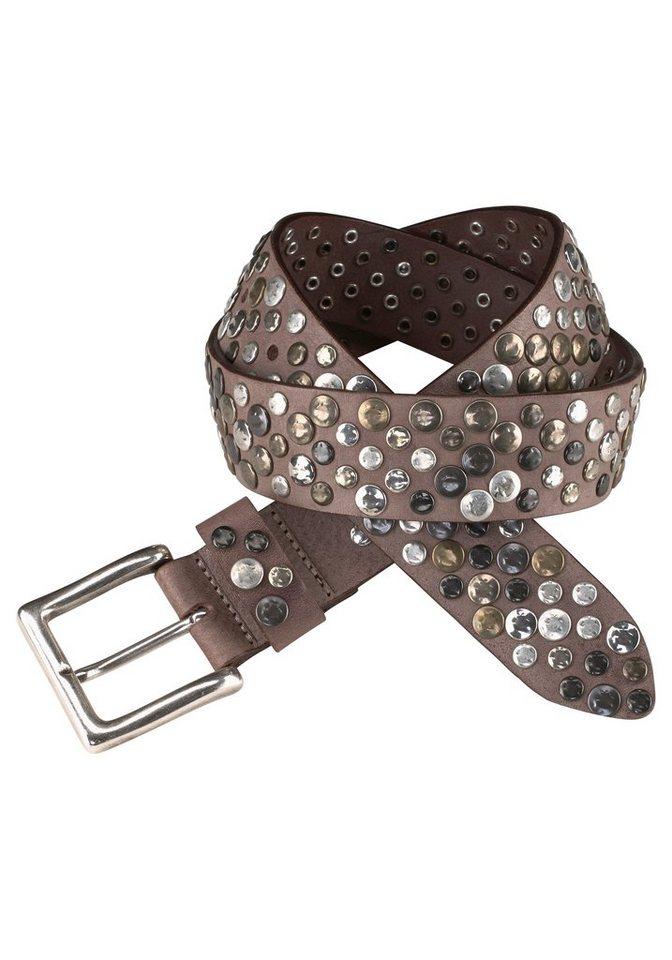 J. Jayz Nietengürtel mit dekorativer Schließe in braun