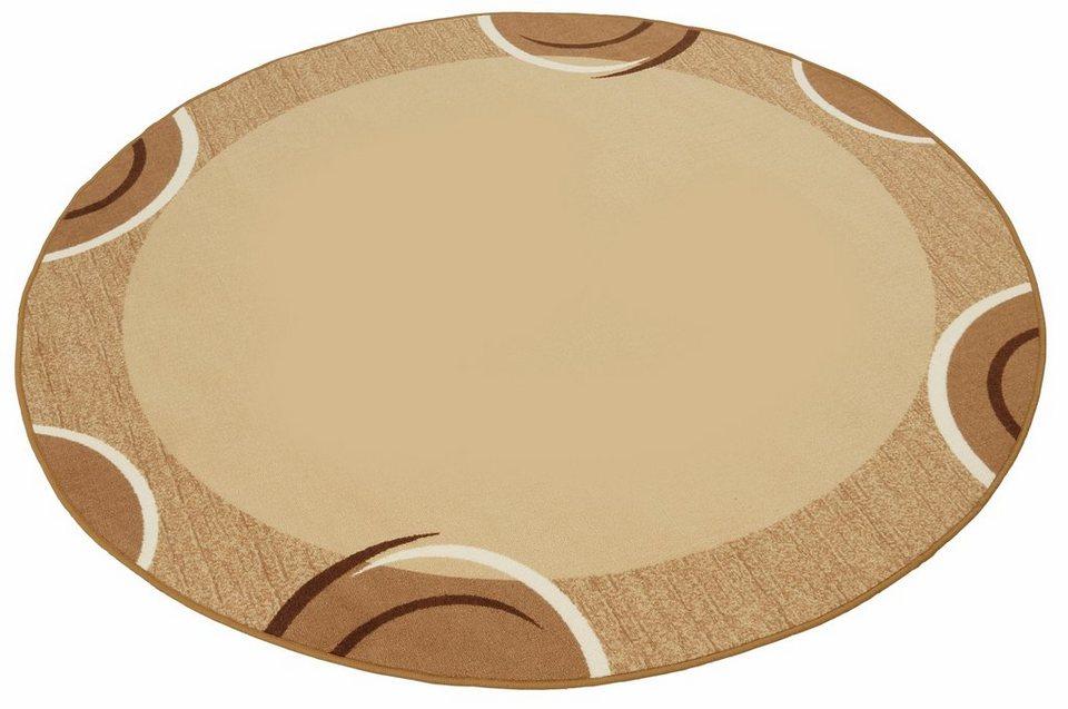 Teppich, rund, Theko, »Loures«, getuftet in braun