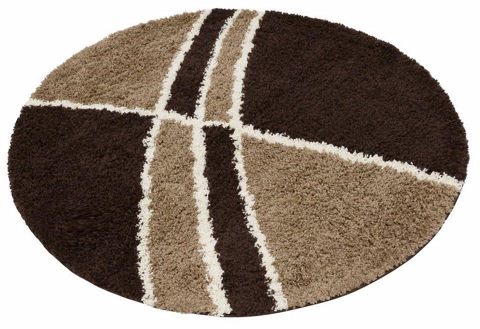 hochflor teppich alessandria my home rund h he 30 mm. Black Bedroom Furniture Sets. Home Design Ideas