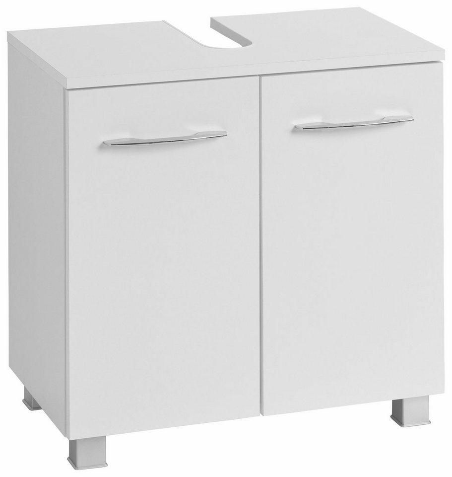 Held Möbel Waschbeckenunterschrank »Portofino« in weiß-weiß