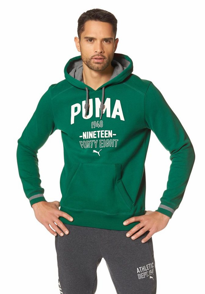 PUMA STYLE ATHLETIC HOODED SWEAT FLEECE Kapuzensweatshirt in Grün