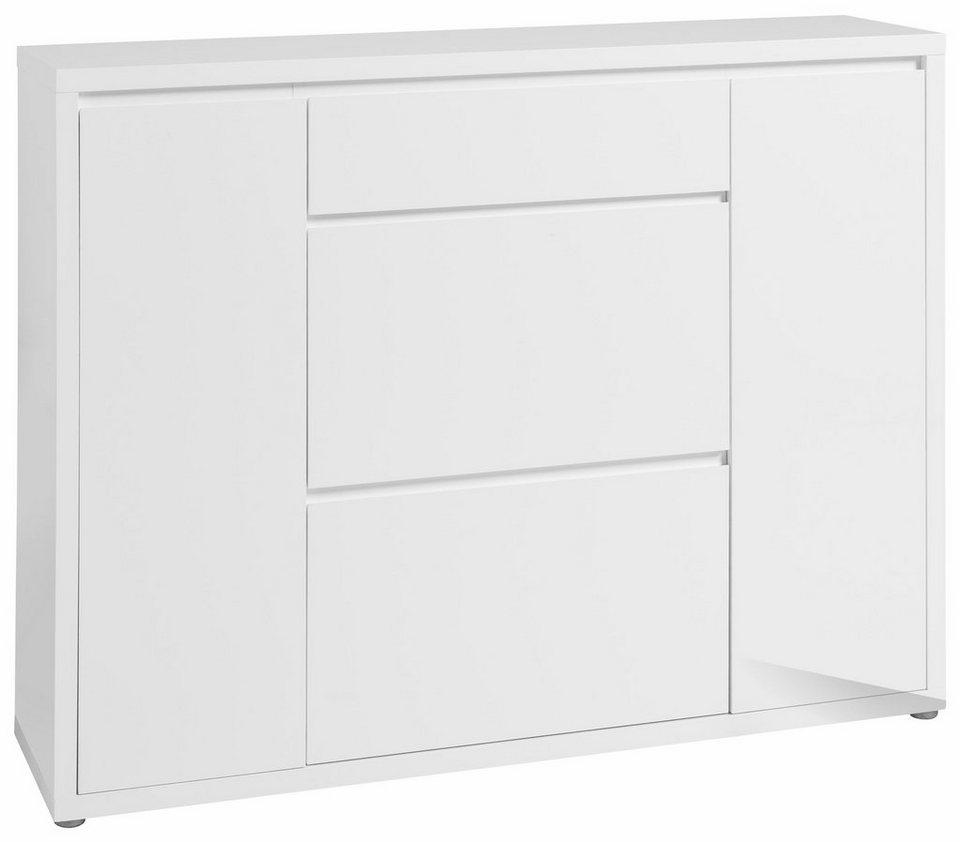 HMW Kommode »Spazio« in weiß-weiß
