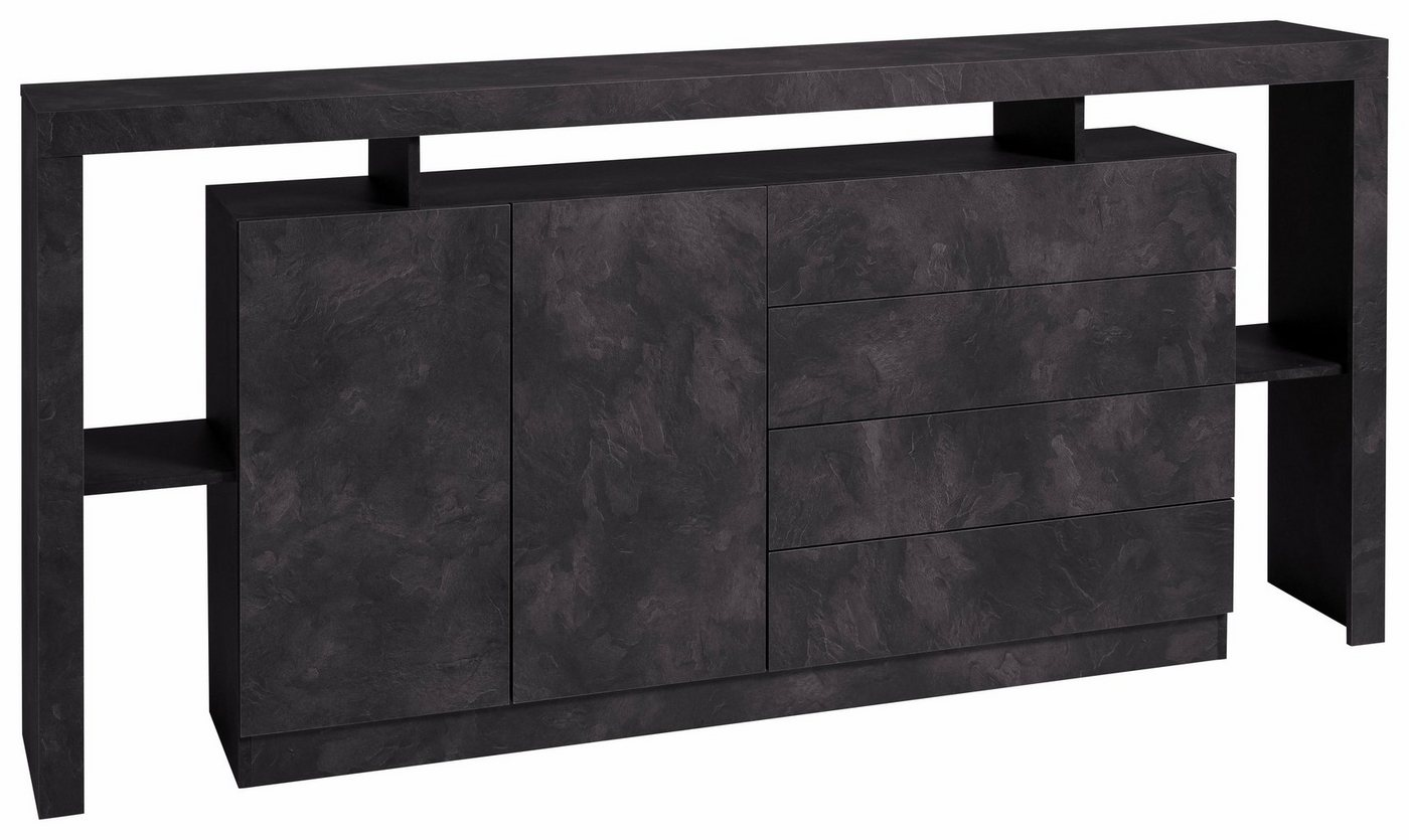 sideboard weiss brombeer preisvergleiche. Black Bedroom Furniture Sets. Home Design Ideas