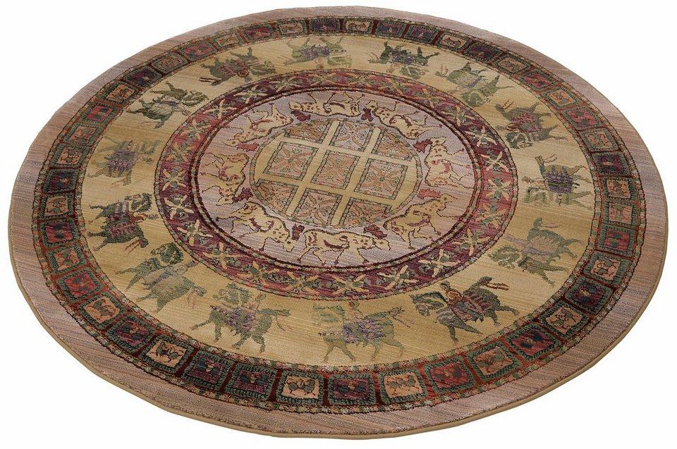 Orient-Teppich, rund, Oriental Weavers, »Gabiro Pazyryk«, gewebt in hell