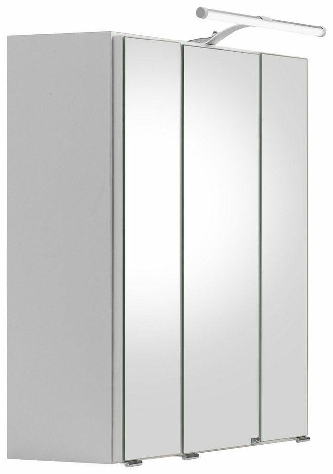 Held Möbel Spiegelschrank »Portofino« mit LED-Beleuchtung in weiß