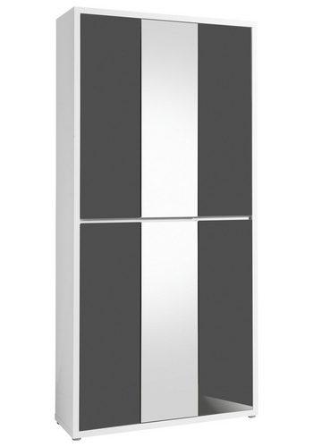 HMW Schuhschrank Spazio, mit Spiegel und griffloser Optik   