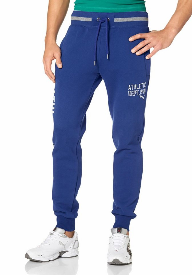 PUMA STYLE ATHLETIC SWEAT PANTS FLEECE Jogginghose in Blau