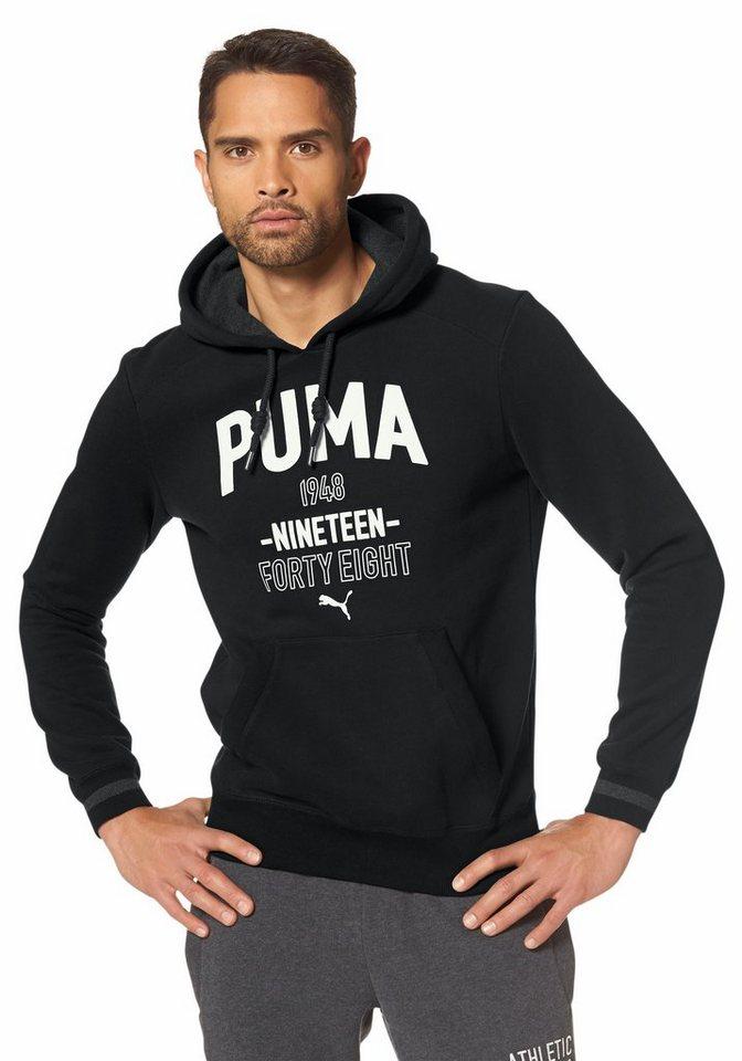 PUMA STYLE ATHLETIC HOODED SWEAT FLEECE Kapuzensweatshirt in Schwarz