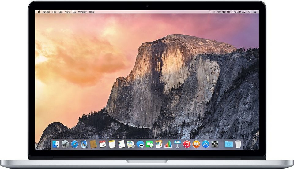"Apple MacBook Pro 15,4"" 512 GB SSD mit Retina Display in Silber"