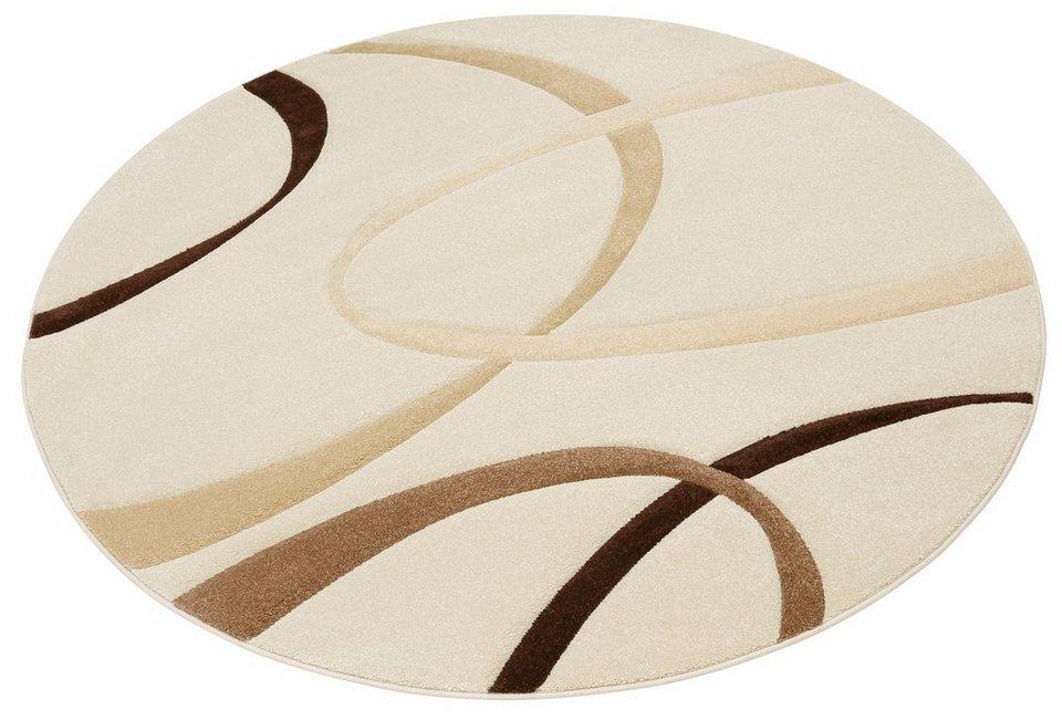Teppich rund beige  Teppich »Bilbao«, my home, rund, Höhe 13 mm kaufen | OTTO