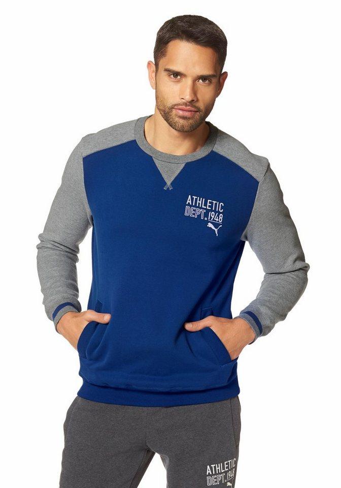 PUMA STYLE ATHLETIC CREW SWEAT Sweatshirt in Blau-Grau
