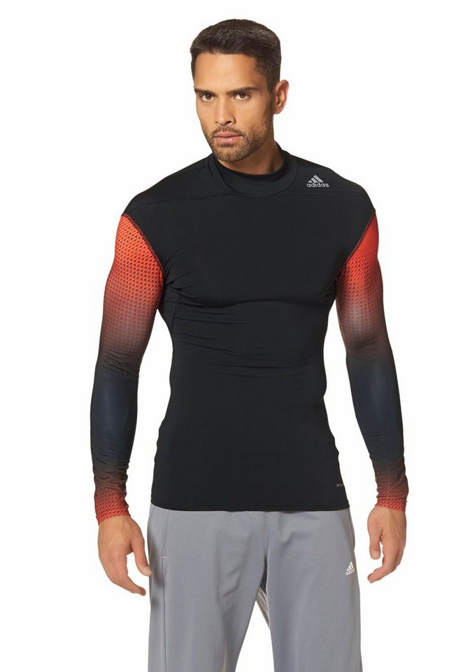 adidas Performance TECHFIT BASE W MOC Funktions-Langarmshirt in Schwarz-Rot