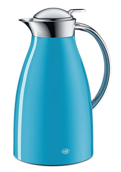 Isolierkanne, Metall lackiert, 1 Liter in verschiedenen Farben, »Excelsia«, Alfi in blau