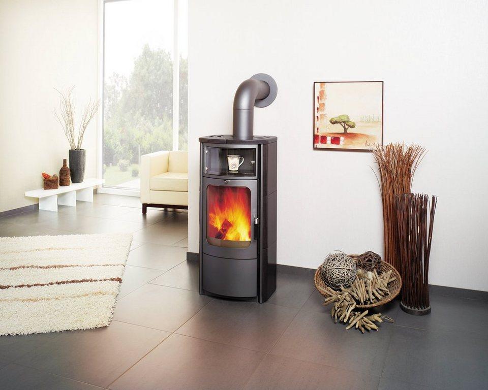 Kaminofen »Opera-B 5«, Kachel schwarz, 5 kW, Dauerbrand, Automatik in grau