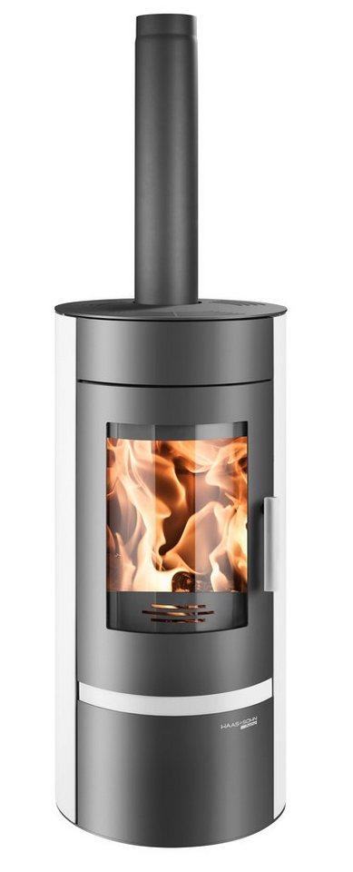 Kaminofen »Olbia«, Stahl weiß, 6 kW, Speicherstein, ext. Luftzufuhr in weiß