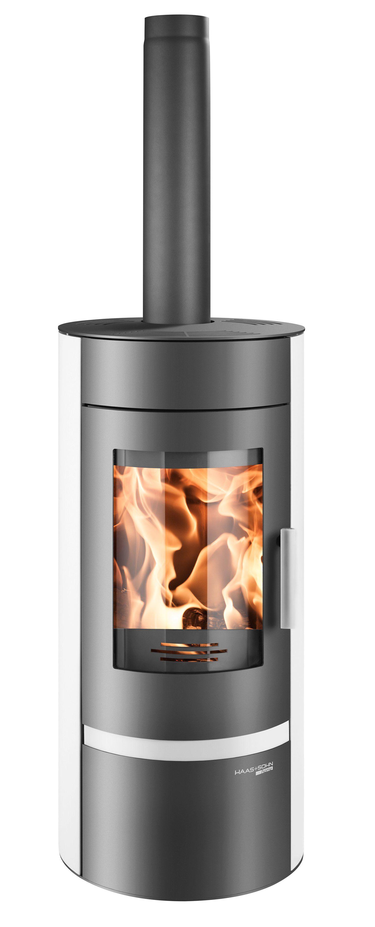 Kaminofen »Olbia«, Stahl weiß, 6 kW, Speicherstein, ext. Luftzufuhr