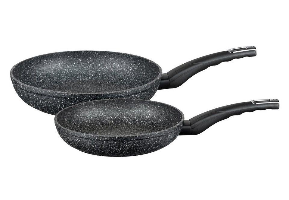 ELO Pfannen-Set, »Granit Evolution« (2-tlg.) in schwarz