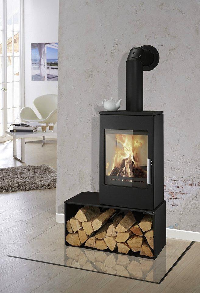 Kaminofen »Turin easy«, Stahl, 6 kW, extra großes Holzfach, ext. Luftzufuhr in schwarz