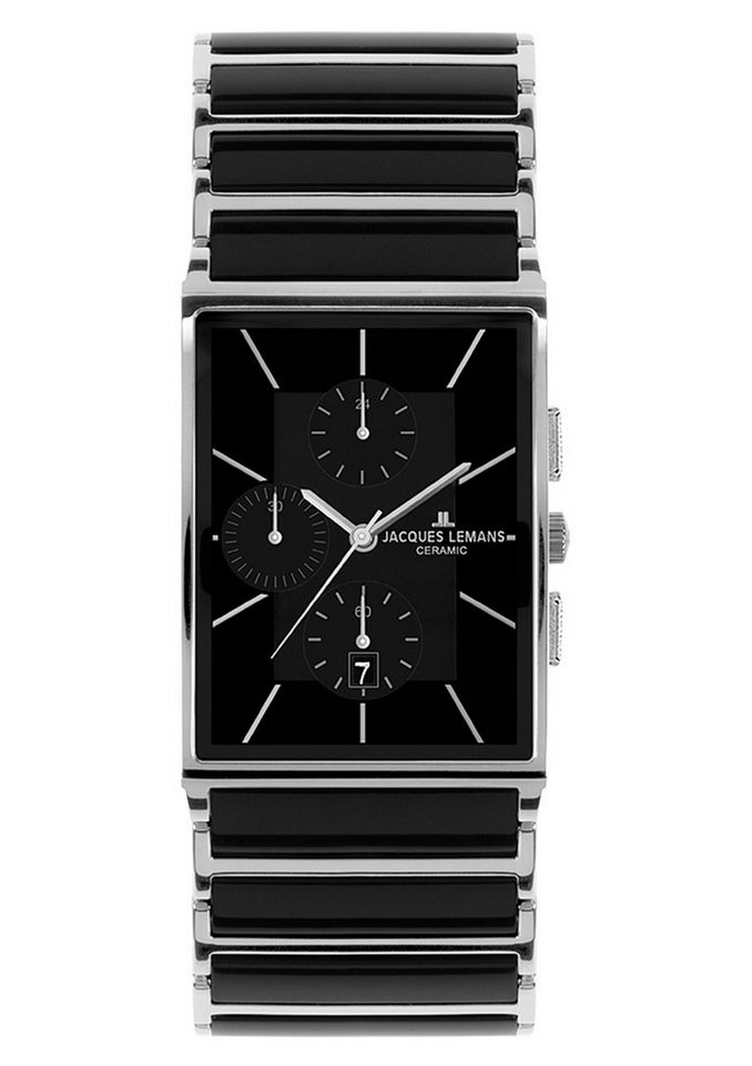 Jacques Lemans Classic Chronograph »York, 1-1817A« in schwarz