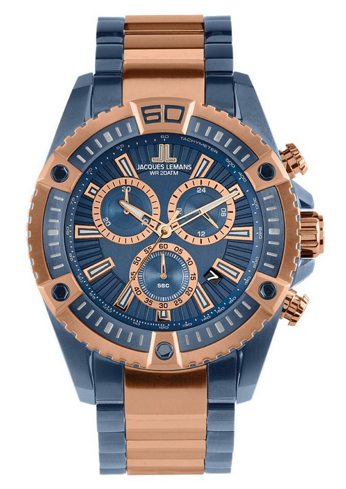 """Jacques Lemans Sports, Chronograph, """"Liverpool, 1-1805K"""" in silberfarben"""