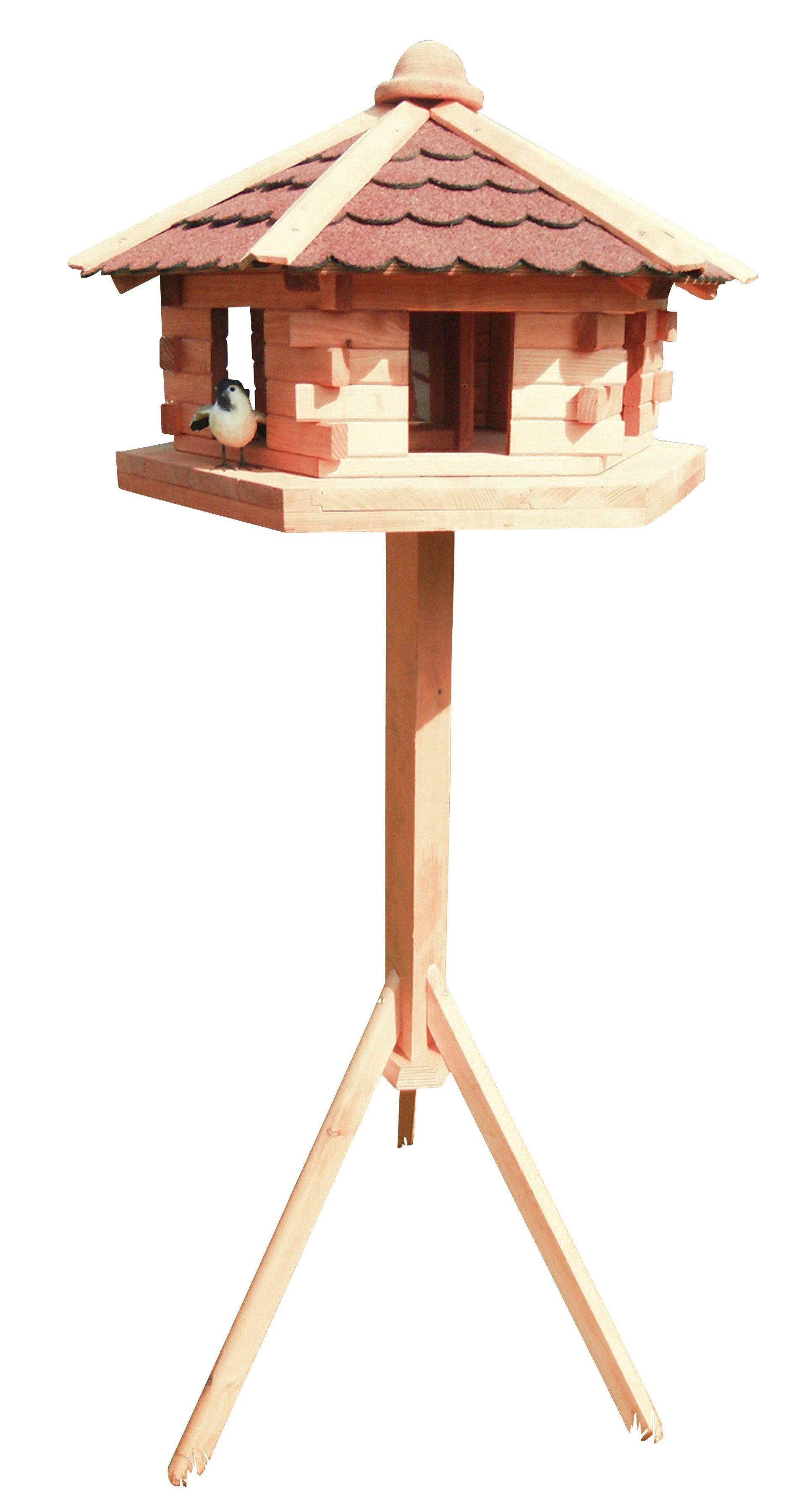 PROMADINO Vogelhaus »Knusperhäuschen«, mit Standbein, B/T/H: 59/57/143,5 cm