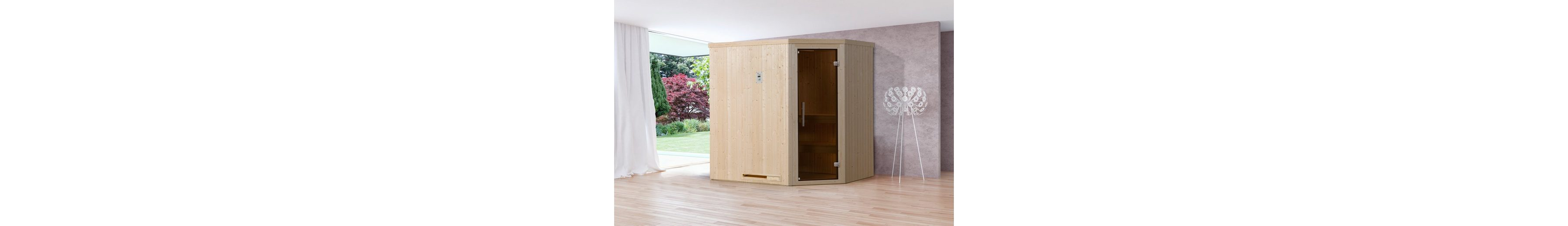 Sauna »Lyngdal 2 Trend Plus BioS«, 192/141/199 cm, 68 mm, 7,5-KW-Bio-Kombiofen