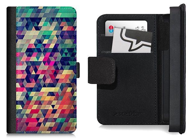 caseable Flip Wallet Case / Klapphülle für Samsung Galaxy S5 mit Designer